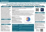 Occupational Therapy's Role in Addressing Sensory Deficits in Children with Behavioral Health Challenges Through Teacher Training