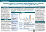 Supporting Children with Neurodevelopmental Disorders: Routines and Environmental Factors Affecting Sleep Quality by Constance Lew, Susan MacDermott, Karen Park, and Becki Cohill